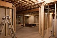BASEMENTS - GARAGES - RENOS *FRAMING CONTRACTOR AVAILABLE*