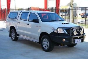 2013 Toyota Hilux KUN26R MY12 SR Double Cab White 4 Speed Automatic Utility Kenwick Gosnells Area Preview