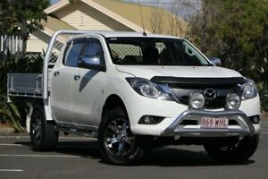 2016 Mazda BT-50 UR0YG1 XTR 4x2 Hi-Rider White 6 Speed Manual Utility Chermside Brisbane North East Preview