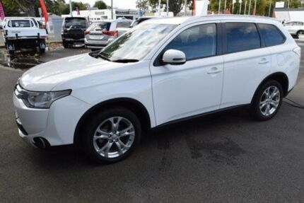 2014 Mitsubishi Outlander ZJ MY14.5 LS 4WD White 6 Speed Sports Automatic Wagon Cooee Burnie Area Preview