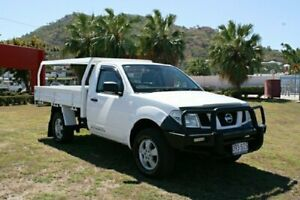 2008 Nissan Navara D40 RX White Manual Cab Chassis Townsville Townsville City Preview