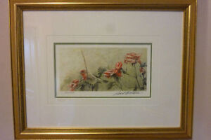 HOUSE FINCH and ROSES - Robert Bateman - $175