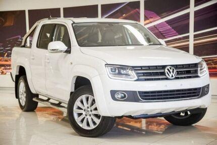 2016 Volkswagen Amarok 2H MY16 TDI420 4Motion Perm Highline White 8 Speed Automatic Utility Blacktown Blacktown Area Preview