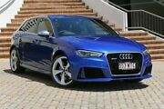 2016 Audi RS 3 8V MY16 Sportback S tronic quattro Blue 7 Speed Sports Automatic Dual Clutch Ashmore Gold Coast City Preview