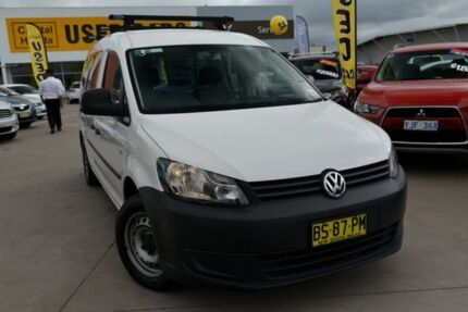 2012 Volkswagen Caddy 2KN MY12 TDI250 Maxi DSG White 7 Speed Sports Automatic Dual Clutch Van