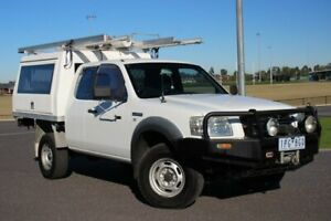2008 Ford Ranger PJ XL Super Cab White 5 Speed Manual Cab Chassis Officer Cardinia Area Preview