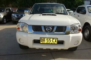 2012 Nissan Navara D22 S5 ST-R White 5 Speed Manual Utility East Maitland Maitland Area Preview