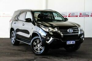 2018 Toyota Fortuner GUN156R MY19 GXL Eclipse Black 6 Speed Automatic Wagon