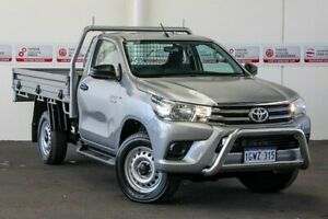 2018 Toyota Hilux GUN126R MY17 SR (4x4) Silver Sky 6 Speed Automatic Cab Chassis