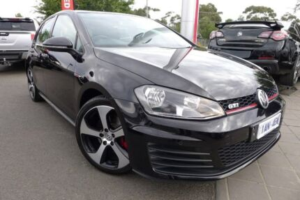 2013 Volkswagen Golf VII MY14 GTI DSG Black 6 Speed Sports Automatic Dual Clutch Hatchback Hoppers Crossing Wyndham Area Preview