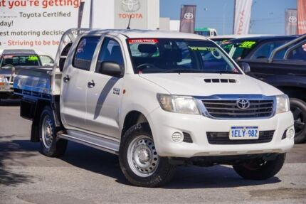 2014 Toyota Hilux KUN26R MY14 SR Double Cab Glacier White 5 Speed Automatic Utility Glendalough Stirling Area Preview