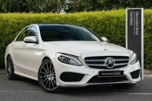 2016 Mercedes-Benz C-Class W205 806+056MY C250 7G-Tronic + White 7 Speed Sports Automatic Sedan Narre Warren Casey Area Preview