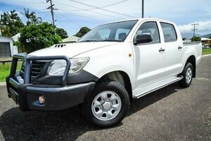 2011 Toyota Hilux KUN26R MY11 Upgrade SR (4x4) White 4 Speed Automatic Dual Cab Pick-up Bungalow Cairns City Preview