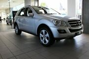 2009 Mercedes-Benz ML W164 09 Upgrade 350 Luxury (4x4) Silver 7 Speed Automatic G-Tronic Wagon Thornleigh Hornsby Area Preview