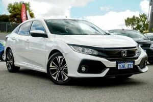 2018 Honda Civic MY17 VTi-L White Continuous Variable Hatchback