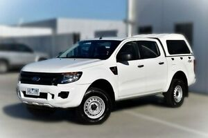 2013 Ford Ranger PX XL Double Cab White 6 Speed Sports Automatic Cab Chassis Pakenham Cardinia Area Preview