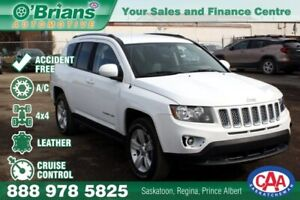 2015 Jeep Compass North - Accident Free! w/4x4, Leather
