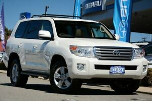 2014 Toyota Landcruiser VDJ200R MY13 VX White 6 Speed Sports Automatic Wagon