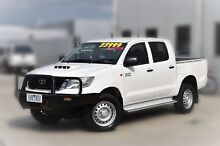 2012 Toyota Hilux KUN26R MY12 SR Double Cab White 4 Speed Automatic Utility Pakenham Cardinia Area Preview