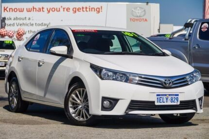 2014 Toyota Corolla ZRE172R SX S-CVT Glacier White 7 Speed Constant Variable Sedan