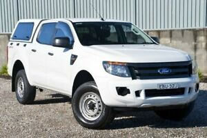 2012 Ford Ranger PX XL Double Cab 4x2 Hi-Rider White 6 Speed Sports Automatic Utility Wyong Wyong Area Preview