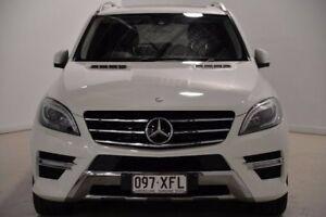2012 Mercedes-Benz ML350 W166 BlueTEC 7G-Tronic + White 7 Speed Sports Automatic Wagon