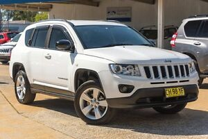 2012 Jeep Compass MK MY12 Sport CVT Auto Stick White 6 Speed Constant Variable Wagon Greenacre Bankstown Area Preview