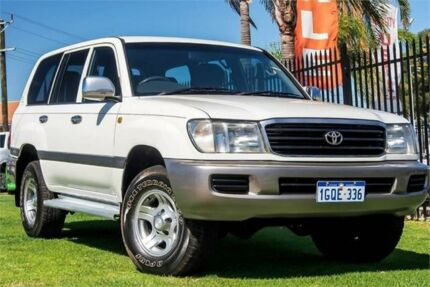 2002 Toyota Landcruiser HZJ105R GXL White 5 Speed Manual Wagon Wangara Wanneroo Area Preview