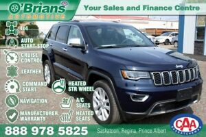 2017 Jeep Grand Cherokee Limited w/Mfg Warrantuy, 4x4, Nav, Leat