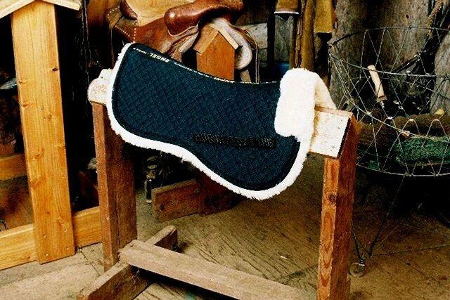 Standard Sheepskin Half Pad W/Pommel 2 Sizes Available