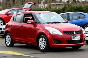 2013 Suzuki Swift FZ MY13 GL Red 5 Speed Manual Hatchback Ringwood East Maroondah Area Preview