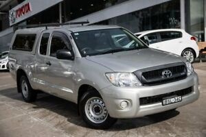 2010 Toyota Hilux GGN15R MY10 SR Xtra Cab 4x2 Silver 5 Speed Automatic Utility Castle Hill The Hills District Preview