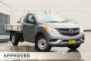 2012 Mazda BT-50 UP0YD1 XT 4x2 Grey 6 Speed Manual Cab Chassis Brookvale Manly Area Preview