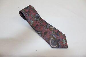 Kr5376 westburry corbata marrón tonos turquesa muy bien