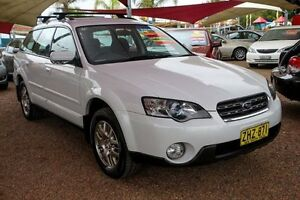2004 Subaru Outback B4A MY04 AWD White 4 Speed Sports Automatic Wagon Colyton Penrith Area Preview