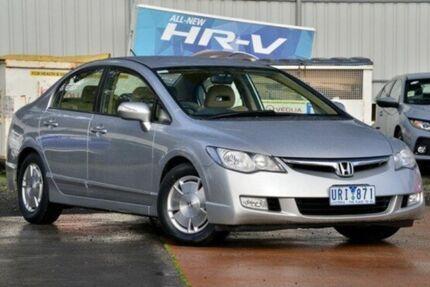 2007 Honda Civic 8th Gen MY07 Hybrid Silver 1 Speed Constant Variable Sedan Hybrid