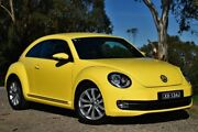 2013 Volkswagen Beetle 1L MY14 Coupe DSG Yellow 7 Speed Sports Automatic Dual Clutch Liftback St Marys Mitcham Area Preview