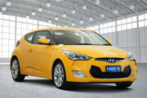2014 Hyundai Veloster FS2 Coupe D-CT Yellow 6 Speed Sports Automatic Dual Clutch Hatchback Victoria Park Victoria Park Area Preview