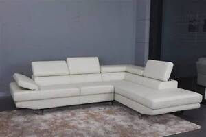 BRAND NEW Modern White Leather Corner Lounge Bankstown Bankstown Area Preview