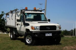 2008 Toyota Landcruiser VDJ79R Workmate White 5 Speed Manual Cab Chassis Officer Cardinia Area Preview