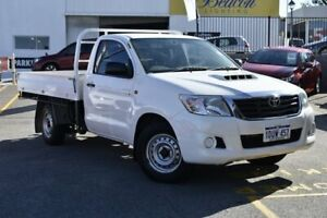 2012 Toyota Hilux KUN16R MY12 SR 4x2 White 5 Speed Manual Cab Chassis Nedlands Nedlands Area Preview