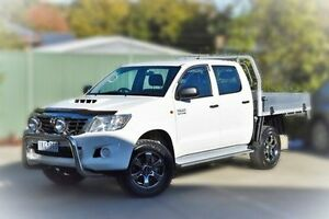 2014 Toyota Hilux KUN26R MY14 SR Double Cab White 5 Speed Manual Cab Chassis Berwick Casey Area Preview