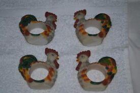 Cockerel Napkin Rings