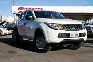 2016 Mitsubishi Triton MQ MY17 GLX White 5 Speed Automatic Dual Cab Utility Osborne Park Stirling Area Preview