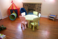Childcare bilingual English/French