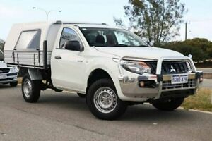 2016 Mitsubishi Triton MQ MY17 GLX 4x2 White 6 Speed Manual Cab Chassis Clarkson Wanneroo Area Preview
