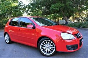 2007 Volkswagen Golf V MY07 GT DSG Tornado Red 6 Speed Sports Automatic Dual Clutch Hatchback Five Dock Canada Bay Area Preview