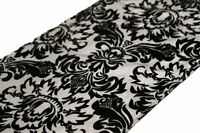Silver and Black Damask Runners