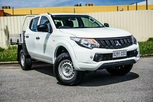 2017 Mitsubishi Triton MQ MY17 GLX Double Cab White 5 Speed Sports Automatic Cab Chassis Gepps Cross Port Adelaide Area Preview