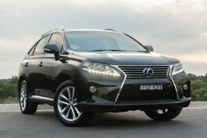 2013 Lexus RX GYL15R RX450h Sports Luxury Black 6 Speed Constant Variable Wagon Hybrid Somersby Gosford Area Preview